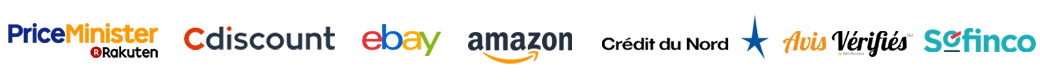 Priceminister Rakuten, Cdiscount, Ebay, Amazon, Crédit du Nord, Avis vérifiés, Sofinco